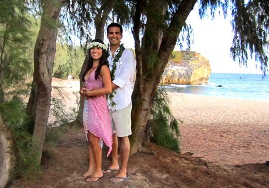 Wedding at Shipwreck Beach